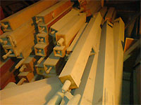 Click here to download a 640 x 480 JPG image showing a stack of wooden Tibias.