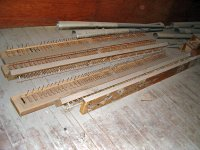 Click here to download a 1024 x 768 JPG image showing some bottom boards and reed pipes waiting to be transported to the work place.