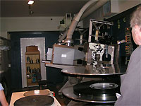 Click here to download a 640 x 480 JPG image showing the projection booth with up-to-date equipment.