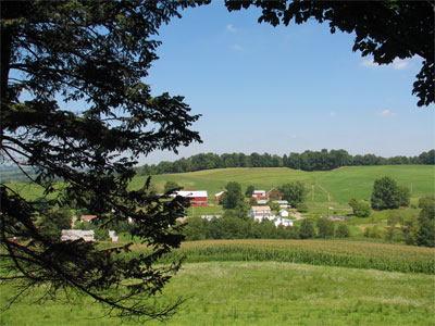 Click here to download a 2592 x 1944 JPG image showing the Ohio farmlands as seen from the deck surrounding the studio.