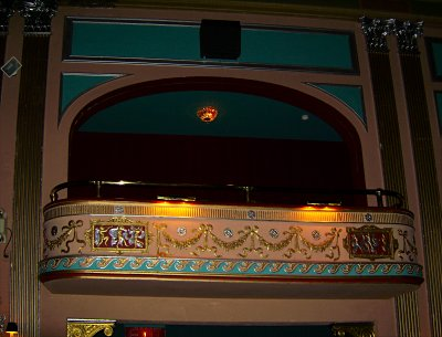 Click here to download a 3237 x 2465 JPG image showing one of the opera boxes in the auditorium of the Lafayette Theatre.