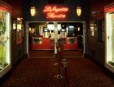 Click here to download a 3373 x 2585 JPG image showing the front doors of the Lafayette Theatre.