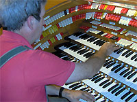 Click here to listen to Tom Hoehn at the console of the J. Tyson Forker Memorial 4/32 Mighty WurliTzer Theatre Pipe Organ installed at Grace Baptist Church in Sarasota, Florida.