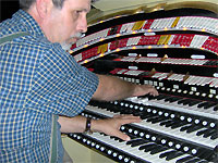Click here to listen to Tom Hoehn at the console of the 3/18 Mighty WurliTzer Theatre Pipe Organ installed at Lake Brantley High School in Orlando, Florida.
