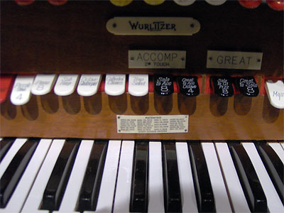 Click here to download a 2048 x 1536 JPG image showing the patent plate on the back rail of the 3/16 Mighty WurliTzer Theatre Pipe Organ installed at Tom Worthington High School, Columbus, Ohio.